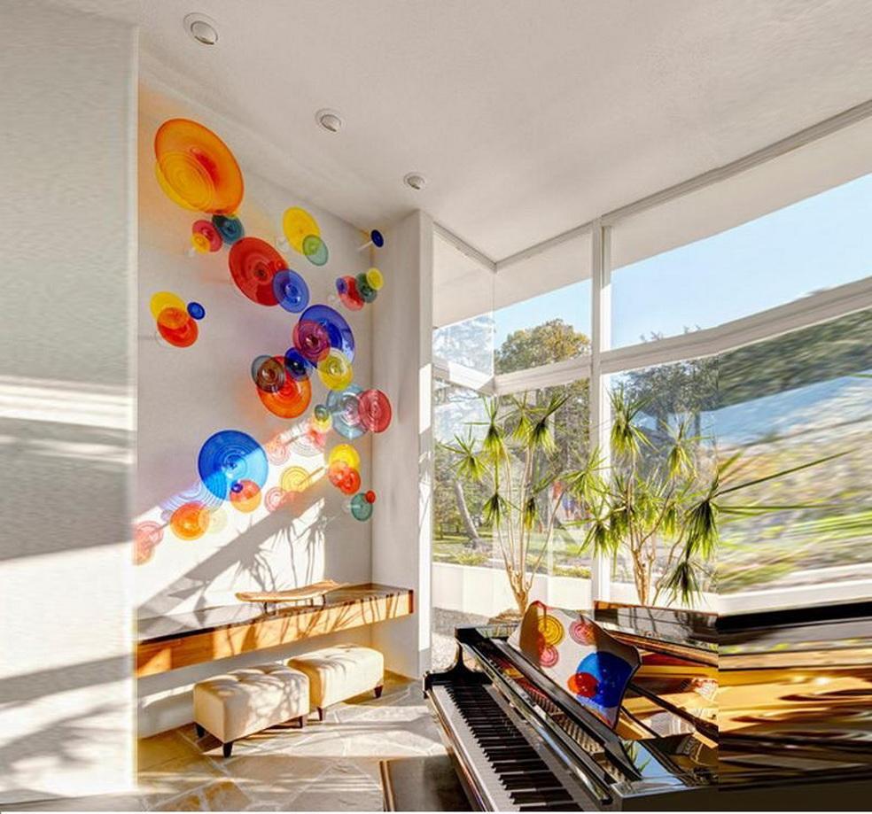 En Yeni Villa Salon Dekor 2020 Duvar Dekor Yaratıcı Sanat Cam walll Lambalar Murano Cam Işık