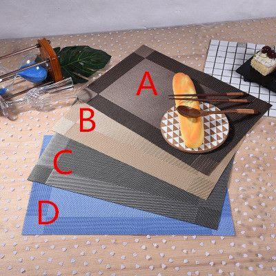 테이블 장식 테이블 placemat 주방 바 매트 PVC 플레이스 매트 광장 주방 도구 다이닝 테이블 매트 보울 패드