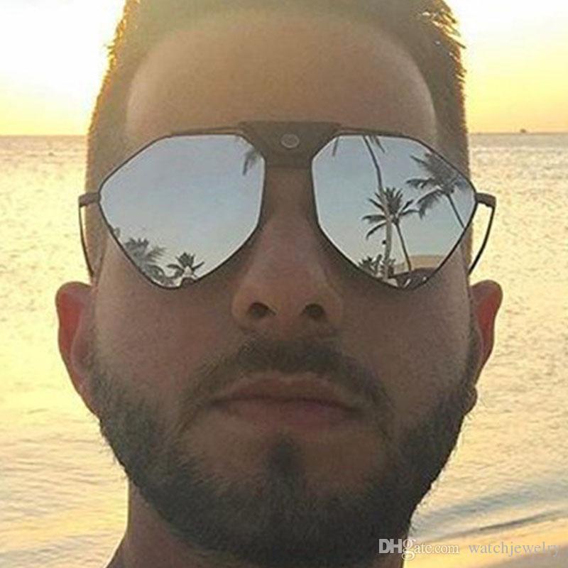 Para hombre de las mujeres de lujo del diseñador gafas de sol 2020 del metal de gafas de sol polarizadas marea de silicona almohadillas de la nariz cómodo Gafas Gafas de espejo