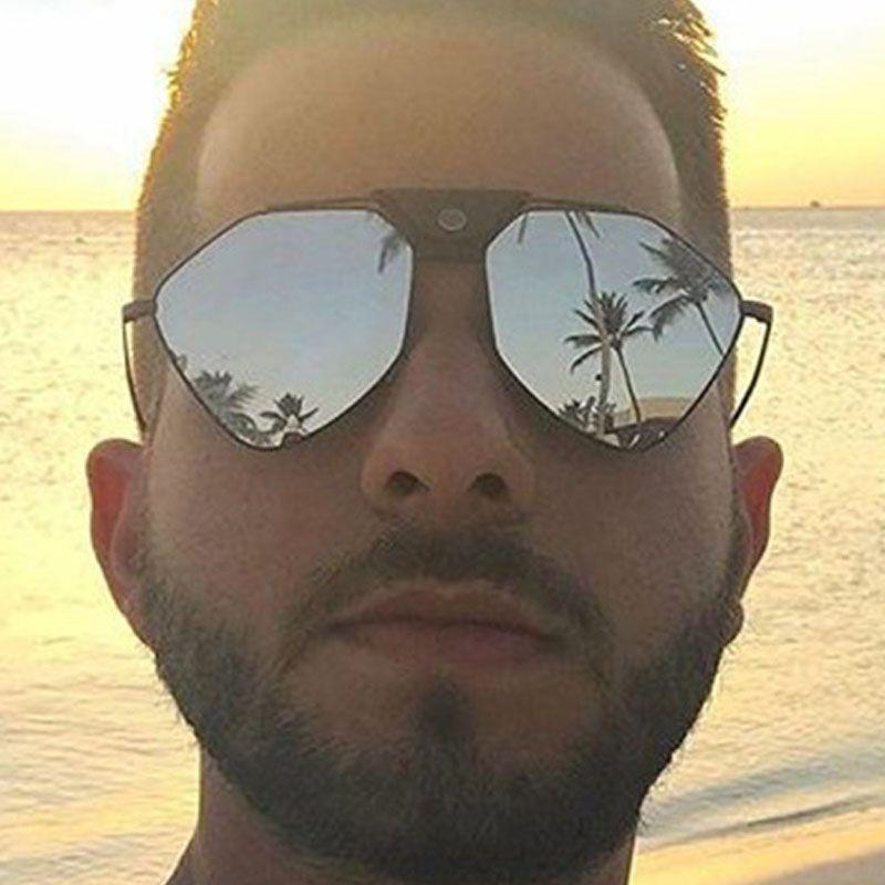 Herren Damen Luxus Designer-Sonnenbrillen 2020 Mode-Metall polarisierte Sonnenbrille Tide Silikon Nasenpads Bequeme Brillen Goggles Spiegel