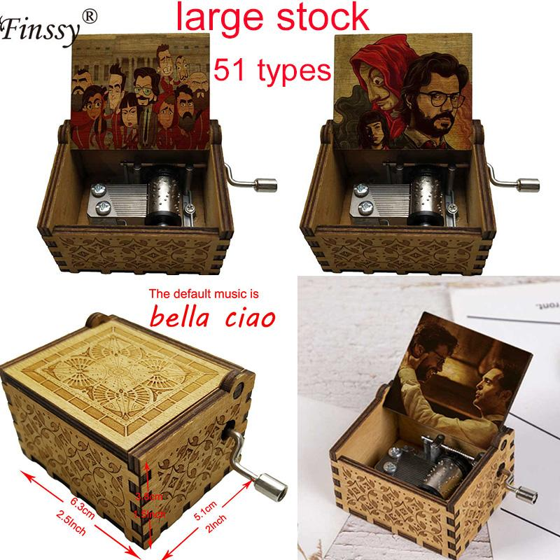 The House of Paper La Casa De Papel Bella Ciao music theme Party present Musical music box Hand Crank gift for kids TV fans