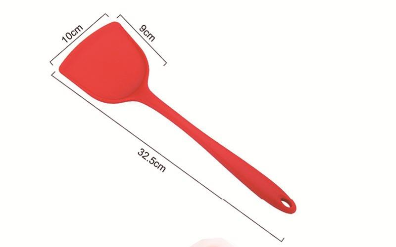 Cuillère silicone grattoir Spatule Pan gâteau cuisine cuisson Outil Ustensile Turners Spatule résistant à la chaleur Intégrer poignée