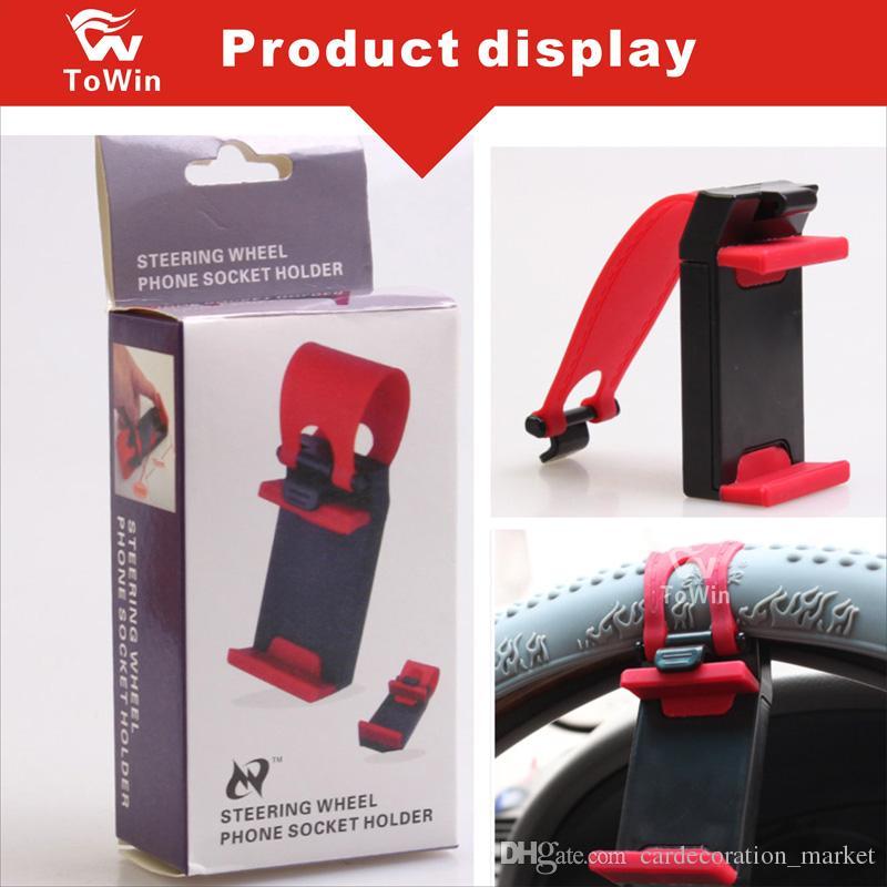 Astuccio per telefono volante volante design semplice Gomma elastica clip universale per prodotti elettronici di larghezza 75mm-55mm Staffa