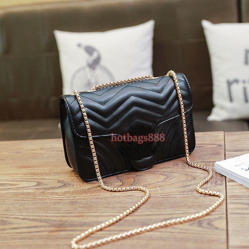 Shoulder Handbag Bag marca famosa Borse del progettista della catena della spalla del sacchetto di cuoio dell'unità di elaborazione Croce Body colore puro femminile Donne Bag Sac A DJB091 principale