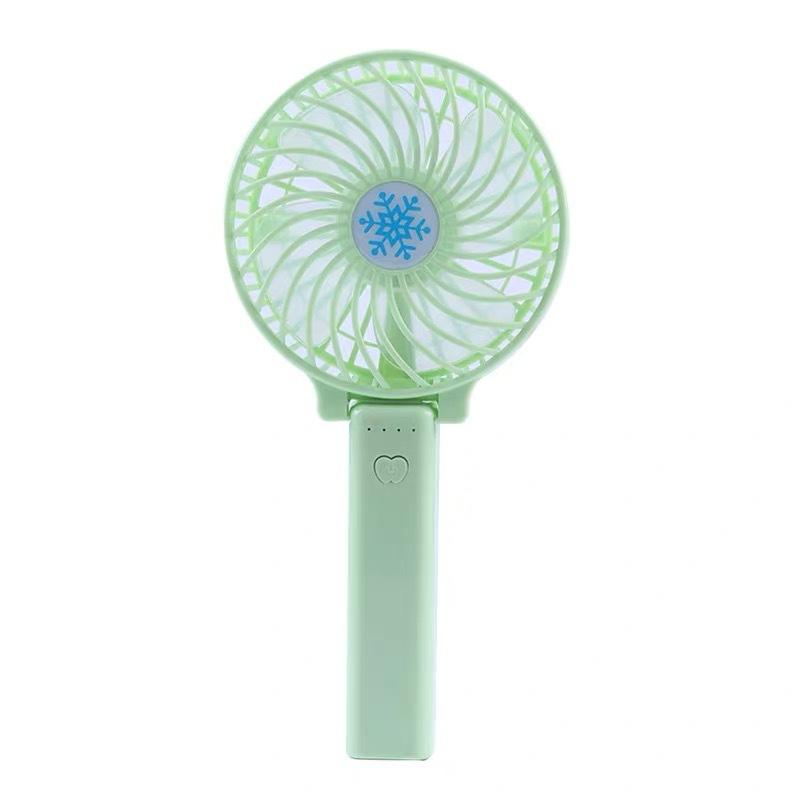 Color : Pink Air Cooler Pocket Handheld Mini Fan Portable Silicone Fresh Small Fan Long-Lasting Wind-Powered USB Fan