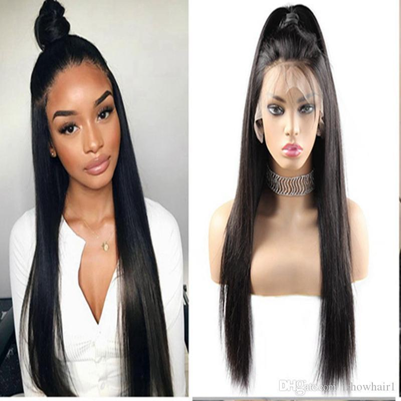 Индийский прямой 360 Кружевной фронтальный парик предварительно Выщипанный с детскими волосами объемная волна человеческих волос парики 10А Реми бразильские человеческие волосы кружевные передние парики