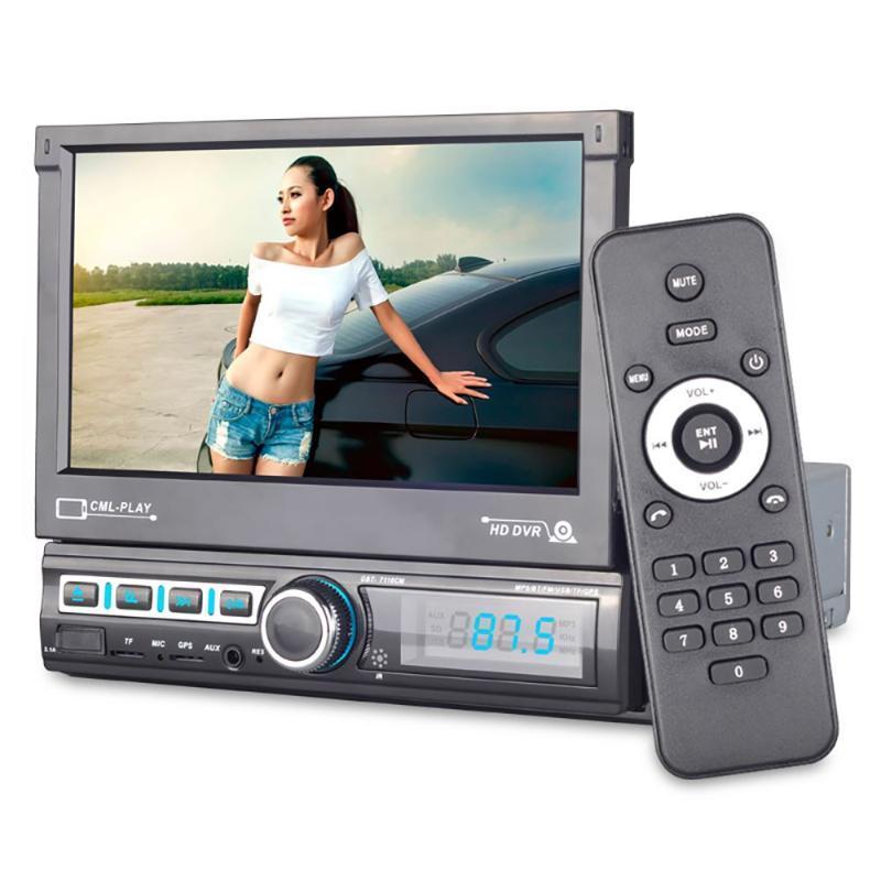 7 pulgadas de pantalla táctil 1080P radio estéreo del coche MP5 SD USB cargador de FM AUX MP3 de la ayuda Espejo Enlace cámara reversa Antena GPS