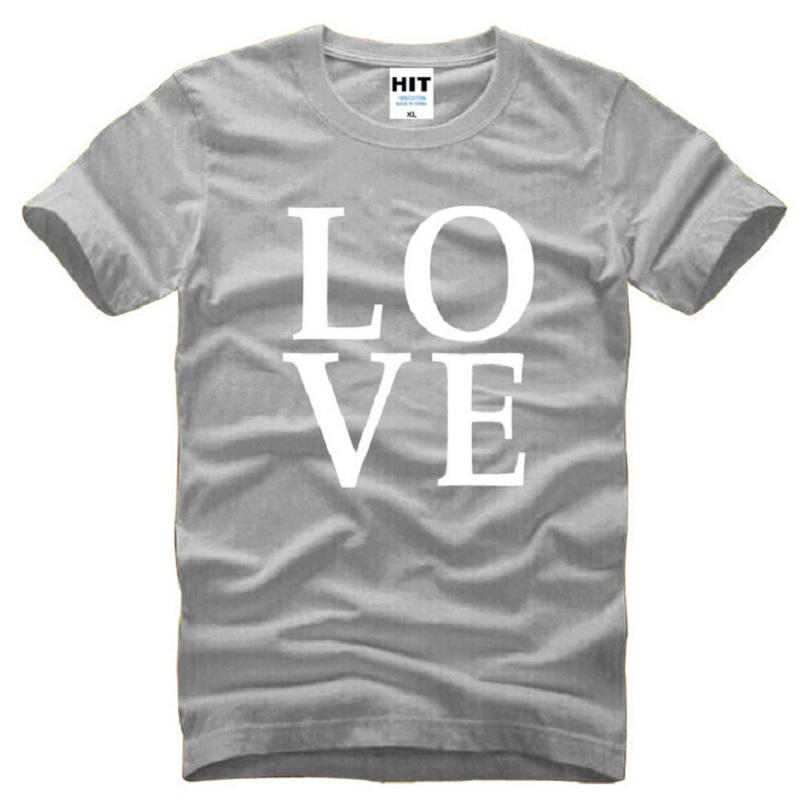 Moda AMOR camisetas Homens New verão de algodão Mens T Shirt letra impressa de manga curta masculina Tops Tees O pescoço Hip hop Tshirtds06