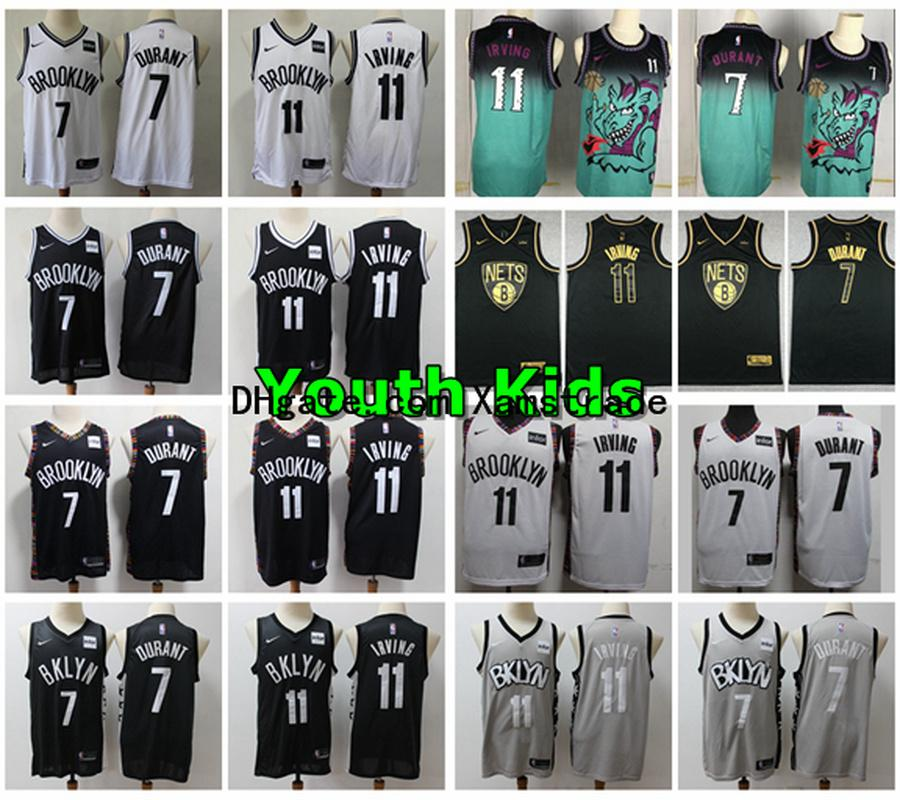 2020 2020 New Youth Kids Brooklyn 13 Nets Kyrie Irving Kevin Durant Swingman Basketball Jersey Stitched 7 Durant 11 Irving Youth Boys Jerseys From Mamba Kobe 61 93 Dhgate Com
