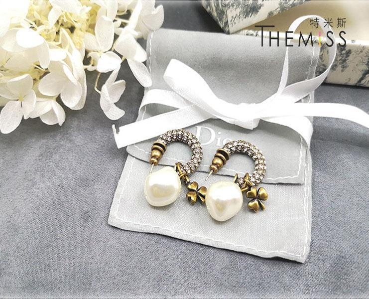 2020 горячие продажи роскошные ювелирные изделия дамы личности серьги Алмаз письмо серьги высокое качество высокого класса темперамент простой стиль моды