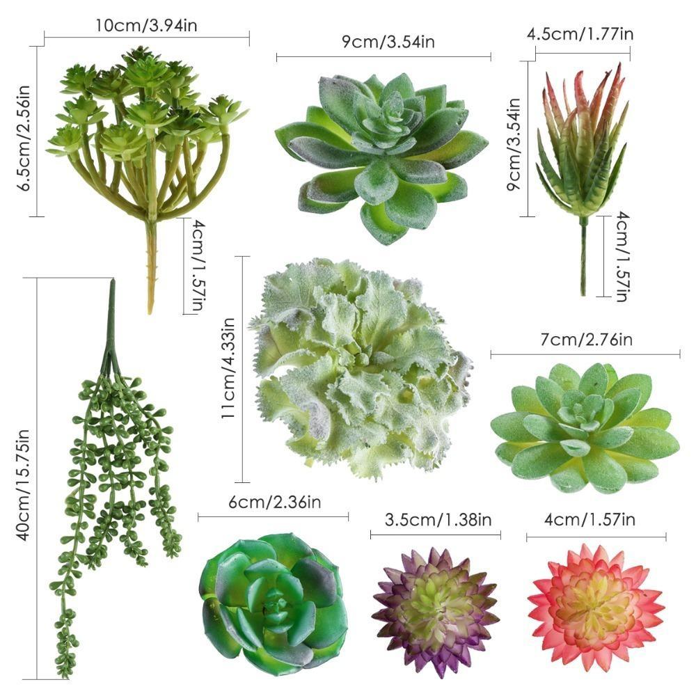 Piante Grasse Da Giardino acquista 15 pz / set fai da te piante grasse artificiali pianta bonsai  falso succulente mini tavolo decor fiore vaso floreale disposizione  attrezzo da
