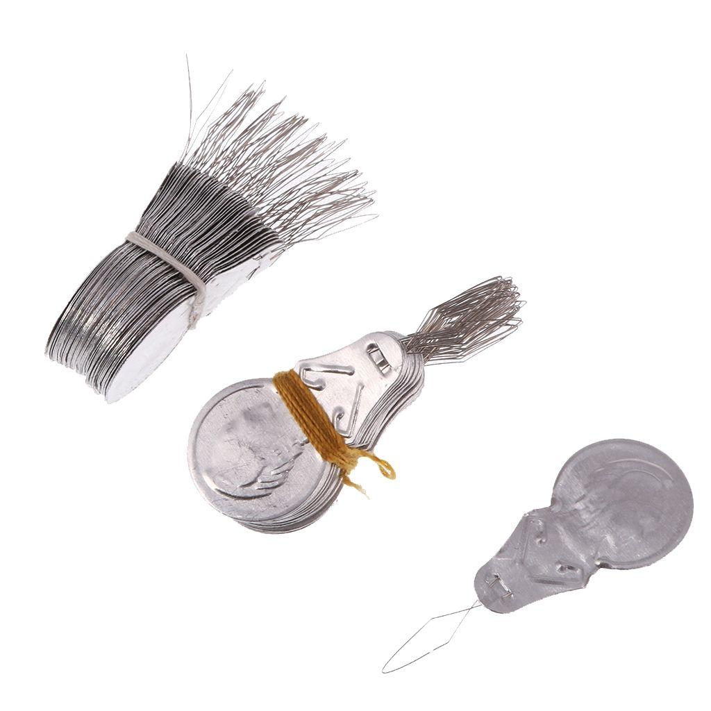 100 Teile / los Bogen Draht Einfädler Aluminium Stich Insertion Maschine Hand Nähen Threaders Für Kreuzstich Kunsthandwerk