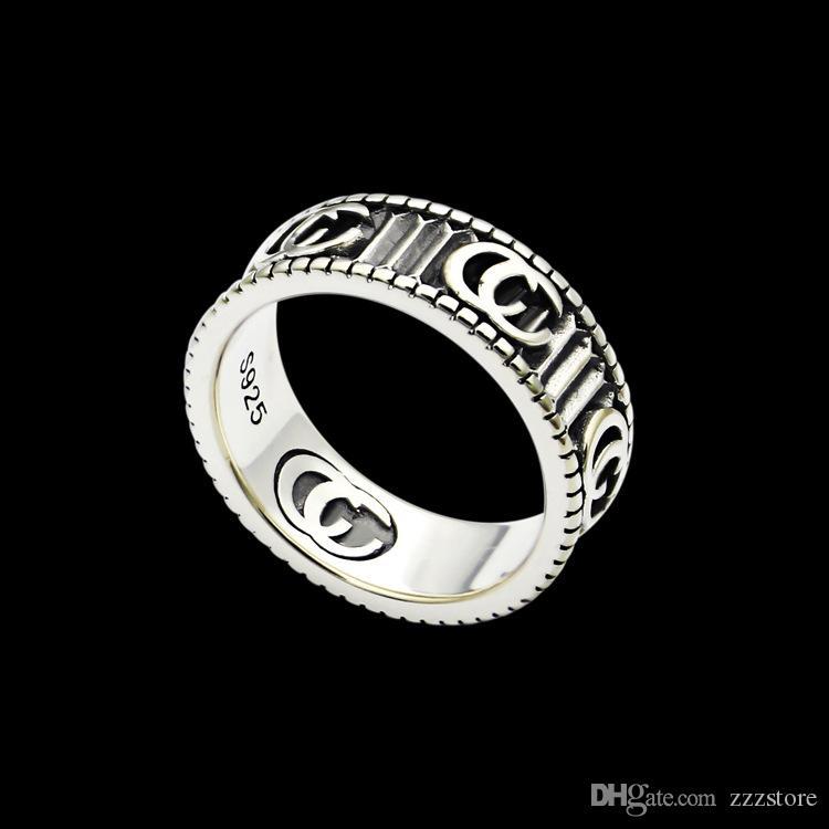2019 Nova chegada 316L Titanium Aço Anel Moda 18K prata mulheres banhado e homem original anel marca de presente da jóia
