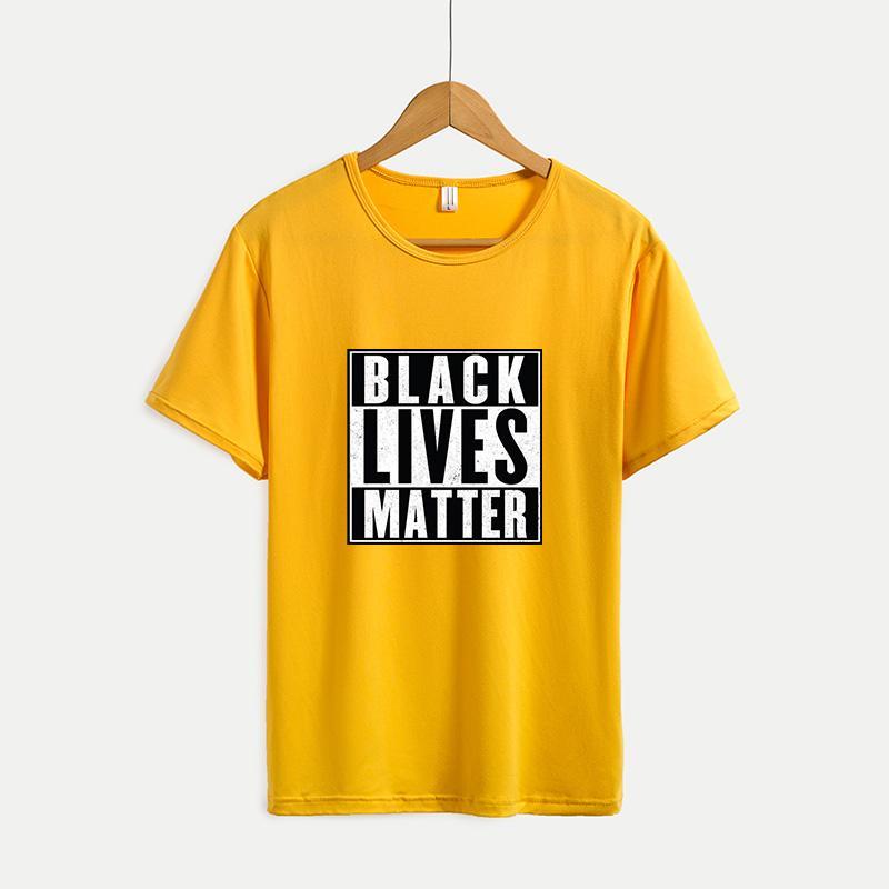 Gli uomini parti superiori di modo Lettera Mens T-shirt stampate Womens Summer Stampa T-shirt 2020 Nuova Gioventù solido casuale Outdoorwears colore NERO VITE MATERIA