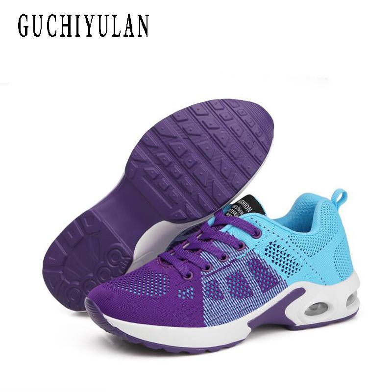 2019 pattini casuali delle donne della piattaforma Lace-Up di cucito Med cunei scarpe per le donne Zapatillas Mujer Flock comode scarpe da ginnastica