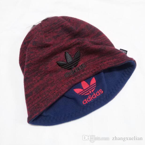 Осень и зима новая корейская шляпа косой полосатый плюс бархат утолщенные мужские вязаные шапки открытый спорт шапочки шляпы