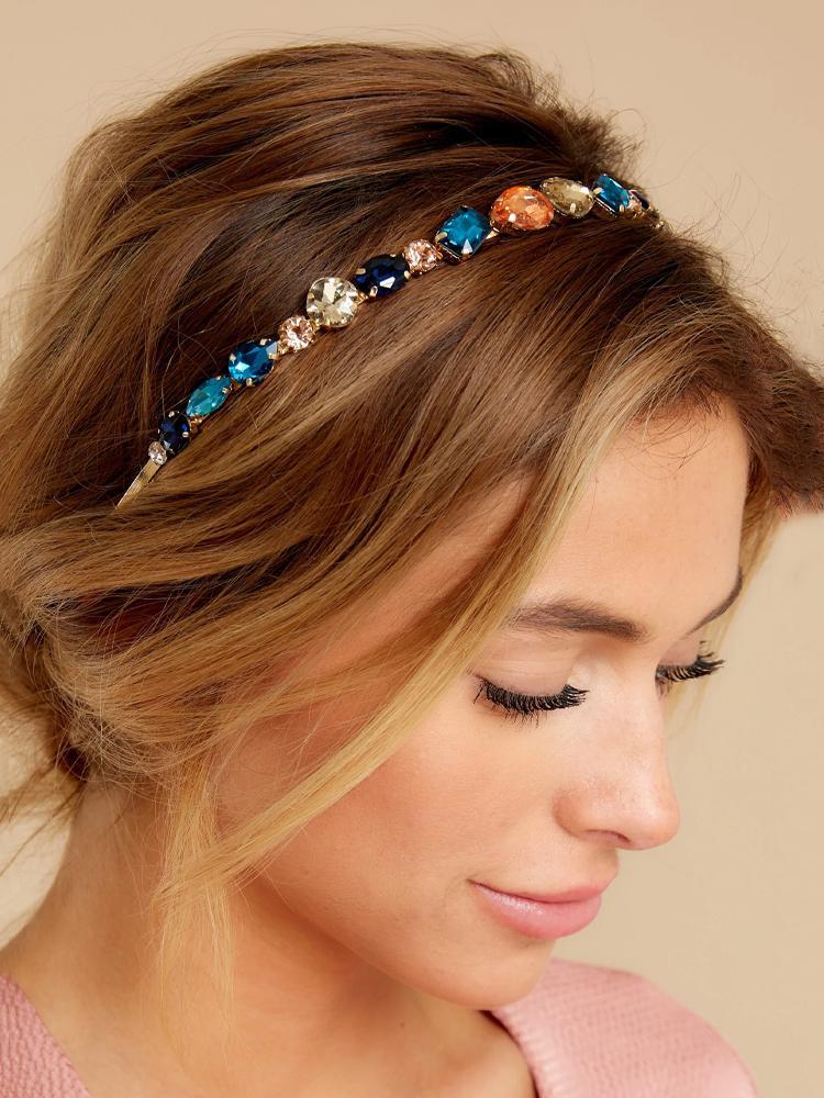 Hairband Sparkly dei capelli Haimeikang strass lunetta fascia barocca di cristallo di lusso per le donne