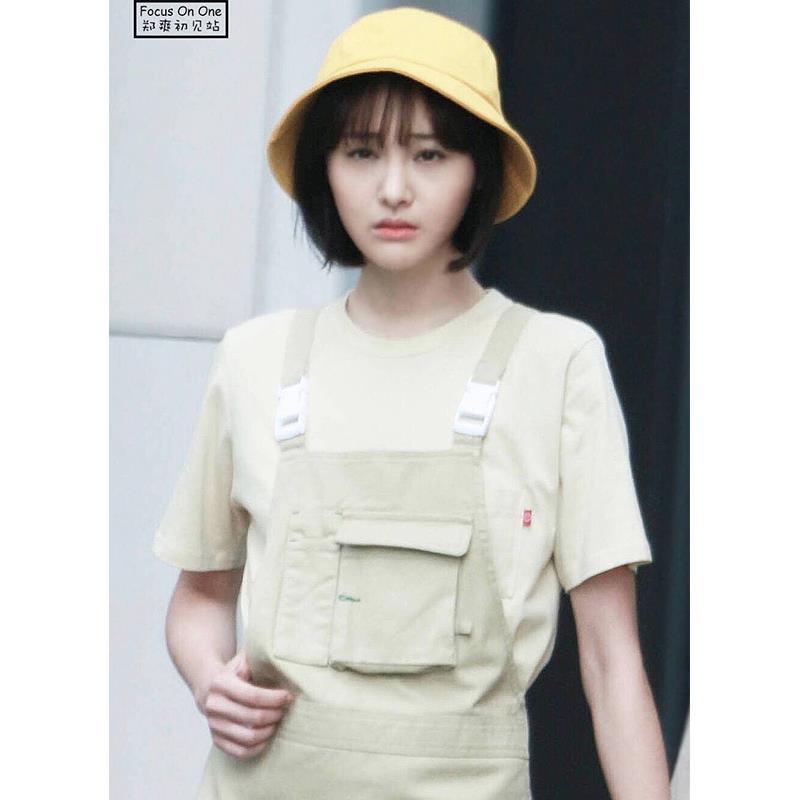 Fest Farbe Fischer-Hut Double-Sided japanische Ins Stern Berühmtheit spornte Gelb Basin Hut Weibliche beiläufige Sommer Sonnenhut
