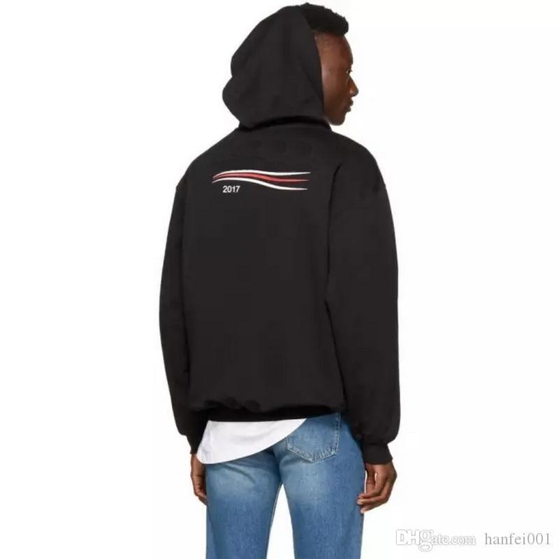2017 Nouveau Sweat-shirts Couple Top Manteaux couleur unie chandail à capuchon Veste de mode Hip Hop HFWY015