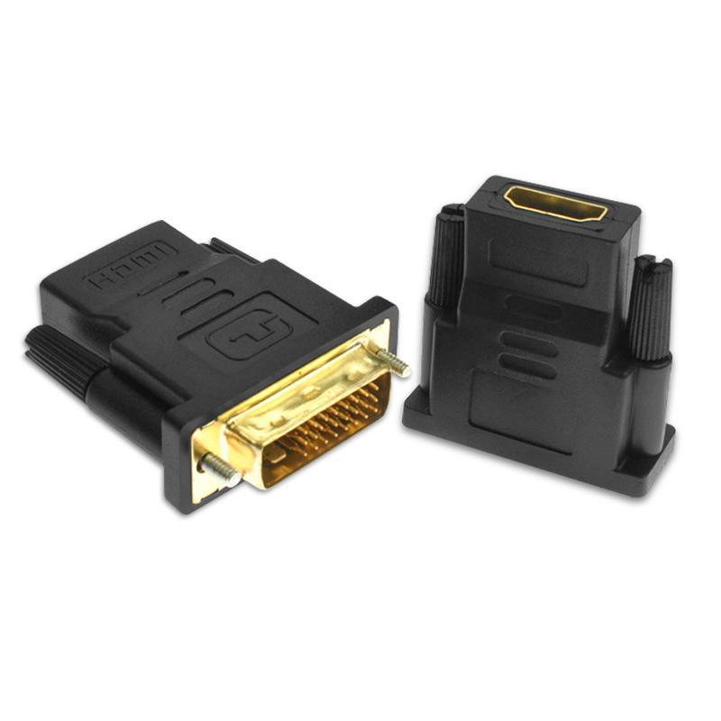 Adaptador HDMI DVI al conector 24 + 1 chapado en oro del convertidor del enchufe macho a hembra 1080P HDMI al cable de DVI para HDTV proyector de monitor