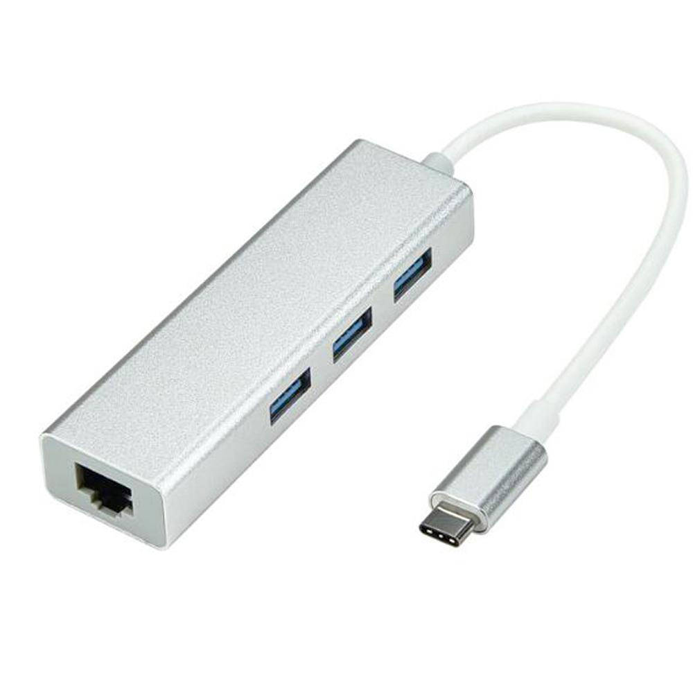 USB 3.1 USB-C Type C 10/100Mbps Gigabit Ethernet Rj45 Lan Adapter with Network Card for MacBook