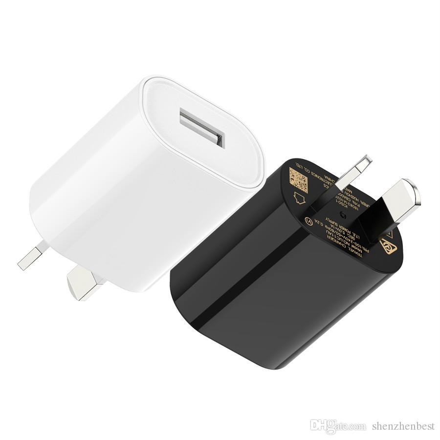AU Plugger Mobile Phone Charger 5V 1A Power Adapter USB Wall Charger for Samsung Huawei HTC Smartphone Table PC 2000PCS