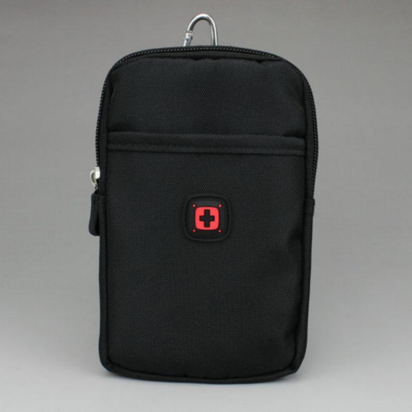 نايلون الحقيبة حزام الخصر حقيبة الجيب محفظة النقود لفون 8 زائد 7 / 6S 5.5 بوصة لسامسونج غالاكسي ملاحظة 8 s8 +
