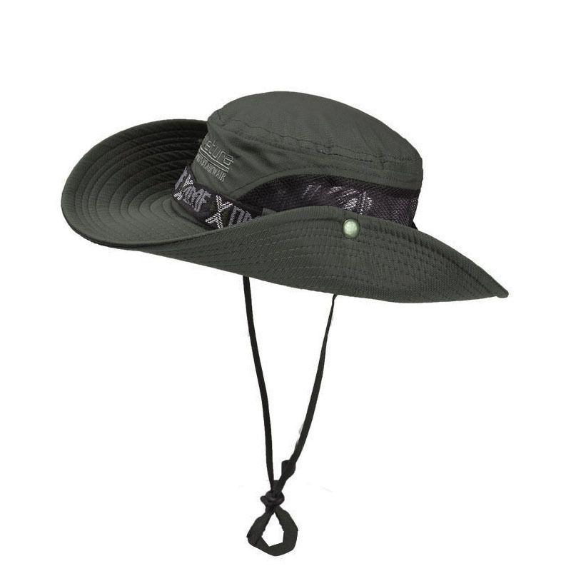 Sommer Outdoor-Fishing UV Visor Damen atmungsaktiv Sonnenblende Hut Männer Travel Tragbarer Fischer-Hut