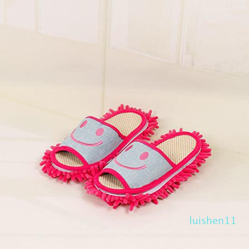 All'ingrosso-Cotton Sorriso modello pantofole multifunzionale pigra mop pulito pantofole scarpe Casa L11