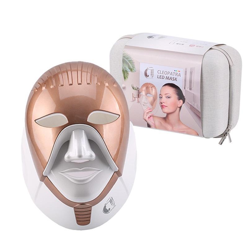Anti-envelhecimento máscara PDT Beleza / Led Light Therapy Rosto 8 cores de carregamento da máquina máscara levou a terapia médica fóton de luz portátil Electrical