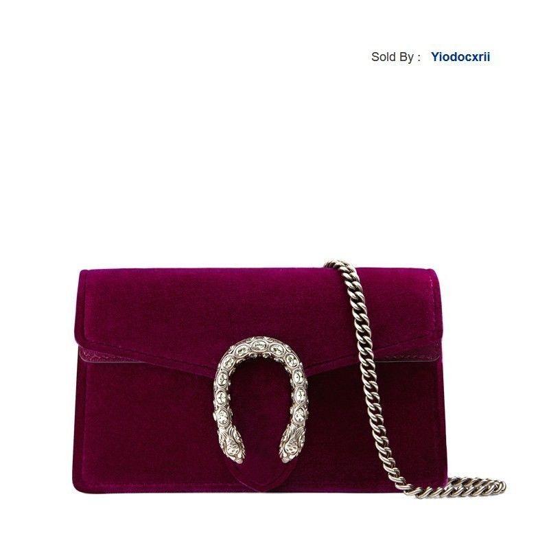 yiodocxrii I8J2 Mini Red Suede Wine Chain Buckle Shoulder Bag 476432 K4dnn 5667 Totes Handbags Shoulder Bags Backpacks Wallets Purse