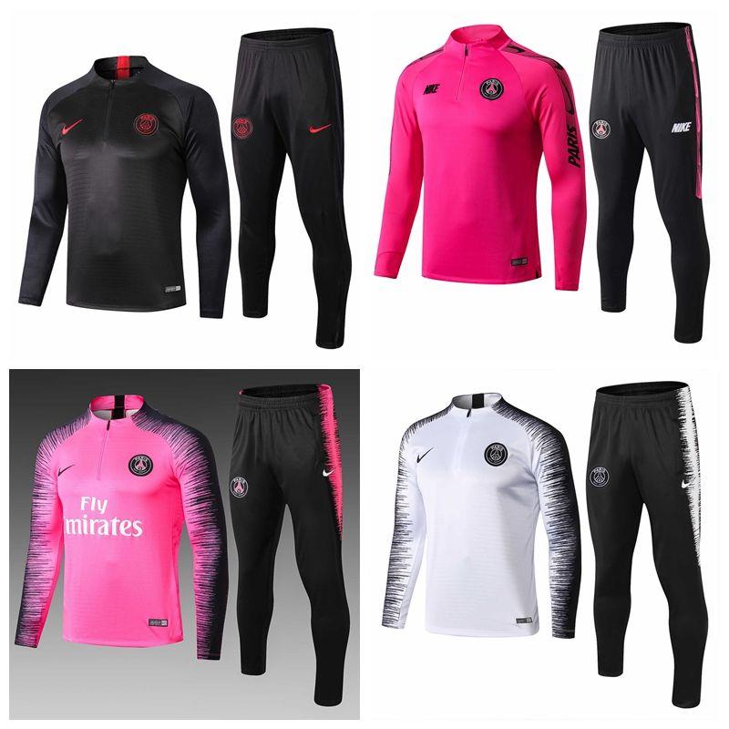 Новый MBAPPE Paris PS черный красный футбольный спортивный пиджак 18 19 thia качества LUCAS белый полный футбол тренировочный костюм пиджак 2019 # 451