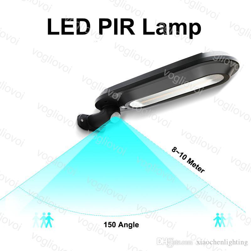 Sensor de movimento de iluminação de segurança solar 18leds preto / branco ABS à prova d 'água parede instalar para jardim ao ar livre Garagem garagem DHL