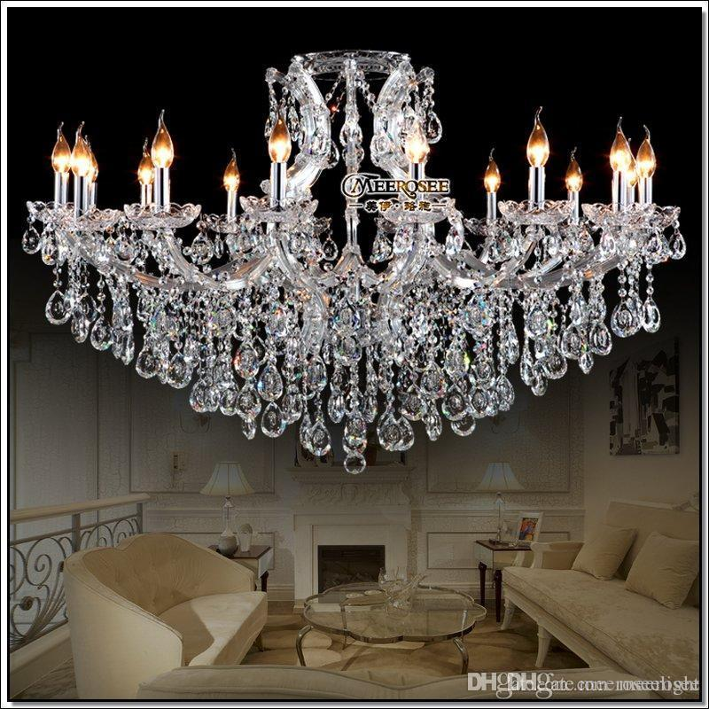 Transparent Large crystal chandeliers Decoration fixture hotel maria theresa crystal Pendant light for lobby, foyer Hanging Lamp