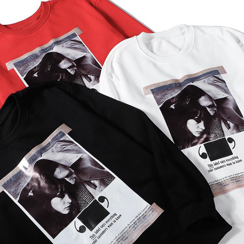 JointPoster печати свитер 2020 нового прибытия Brand Mens женщин конструктора Толстовка Пуловер Спорт Повседневная мода O-образным вырезом Top LJJ98281 качества