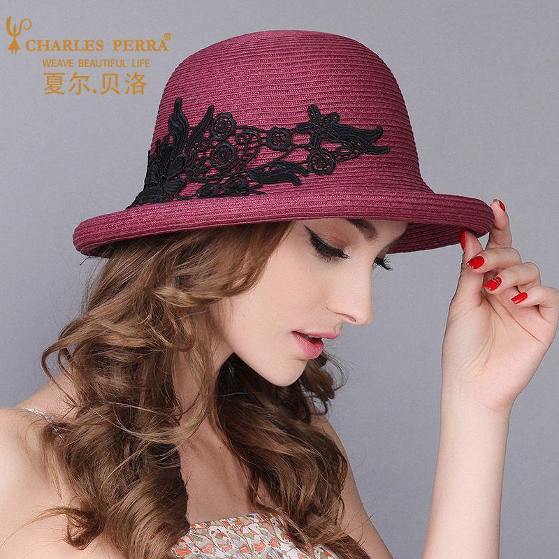 Atacado Chapéus de Sol Feminino Moda Elegante Chapéu De Palha Novo Dobrável Mulheres Verão Praia Protetor Solar Viseira Caps Rendas 5009