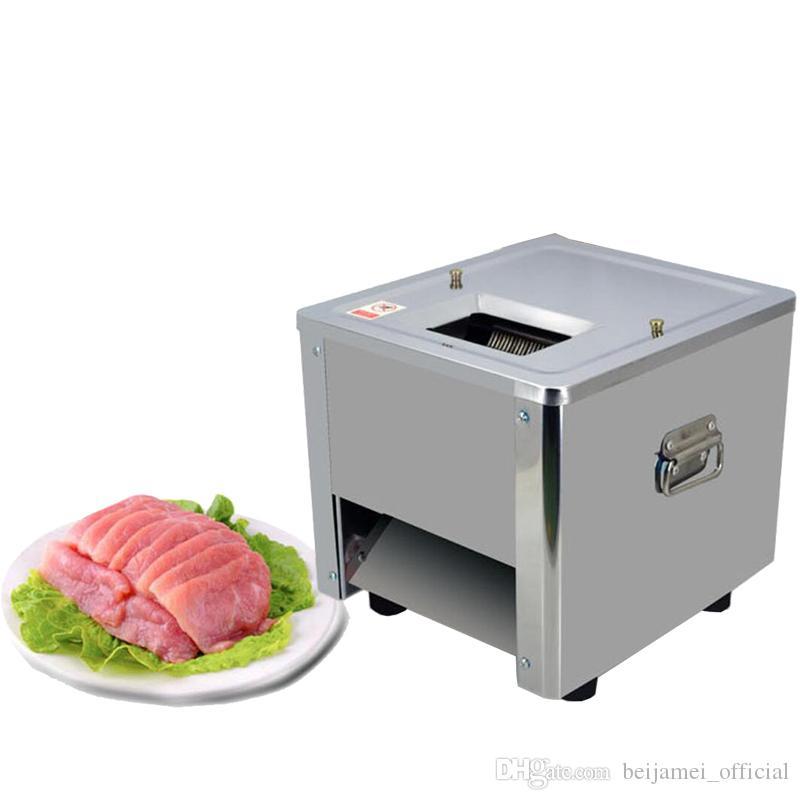 BEIJAMEI 850W Comercial carne máquina de cortar de acero inoxidable de corte en dados máquina de carne de la carne eléctrica amoladora automática vegetal Shred Slicer