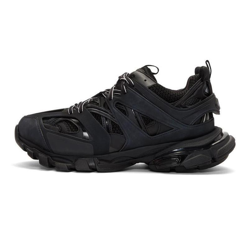Diseño de lujo de calidad superior de los zapatos ocasionales Triple S Track 3.0 mujeres de la marca Gris Naranja Amarillo Hombres Zapatos Casual las zapatillas de deporte de la plataforma deportiva CS08