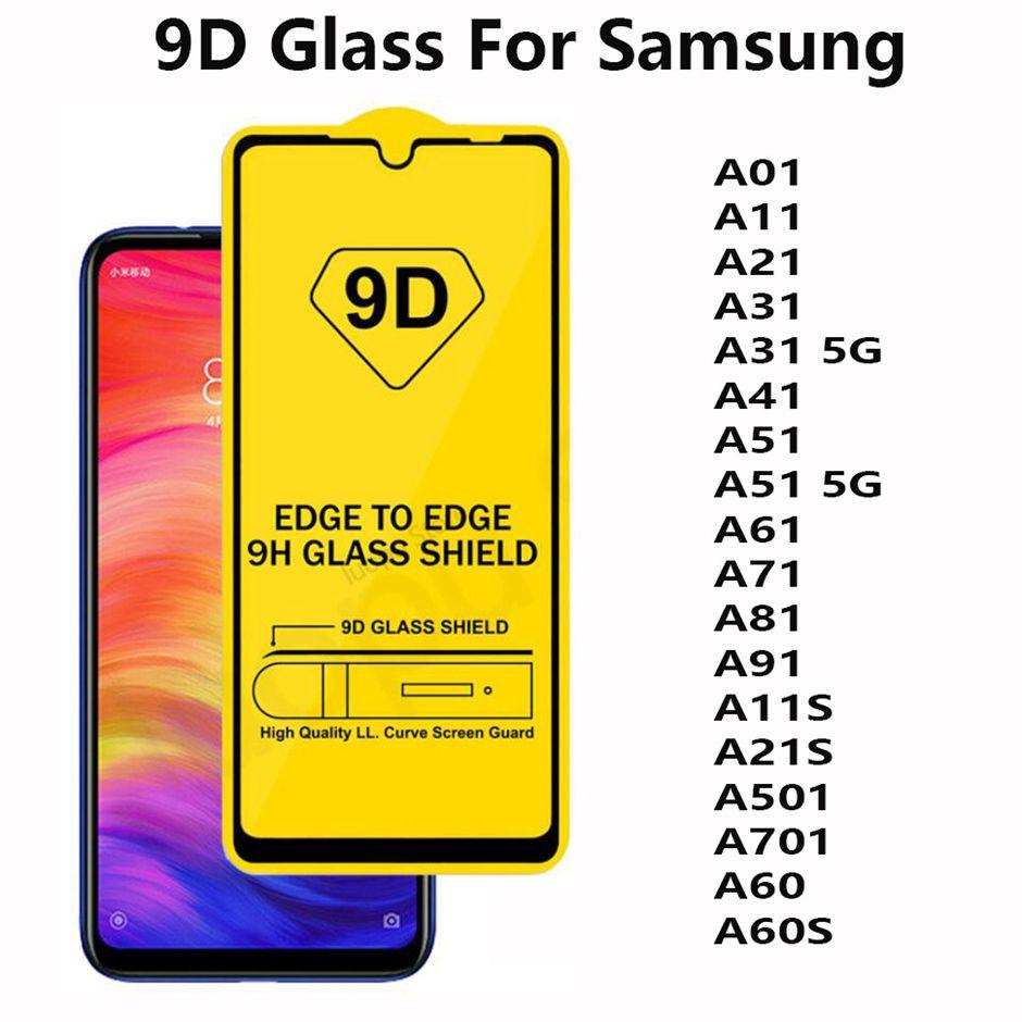 ZHANGYUNSHENG 25 PCS 11D Full Screen Full Glue Anti-Fingerprint Tempered Glass Film for Galaxy M40 A60 zys