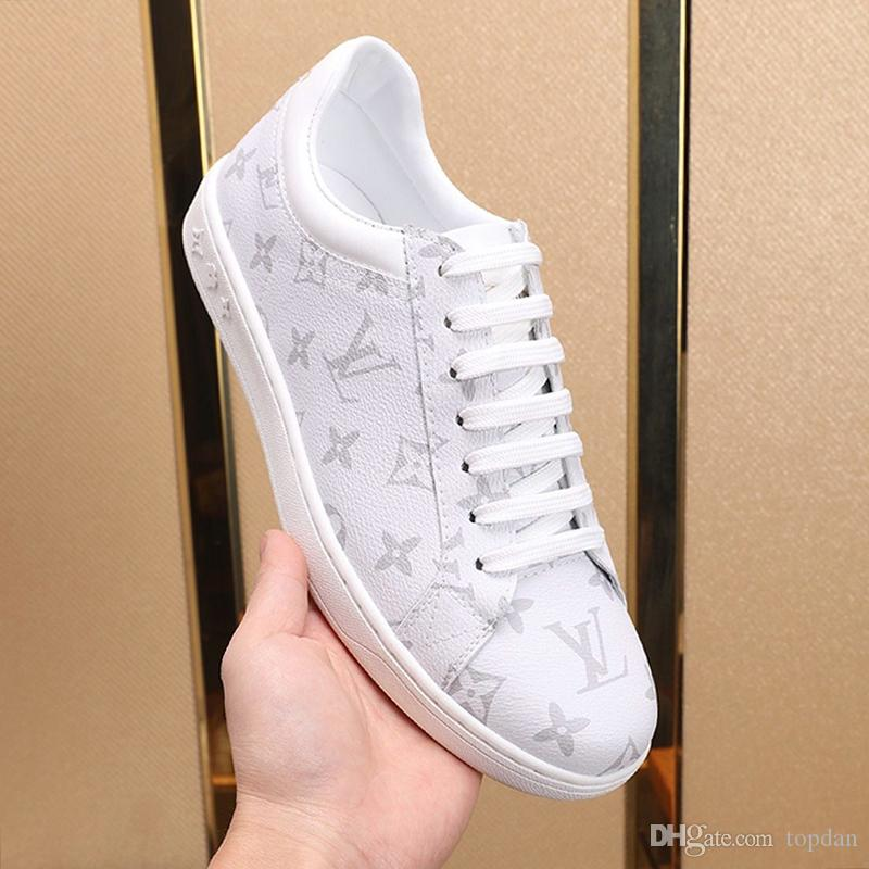 Louis Vuitton Mens scarpe comode all'aperto di lusso Footwears Lussemburgo sneaker allacciata Plus Size uomini casuali Scarpe Chaussures pour hommes