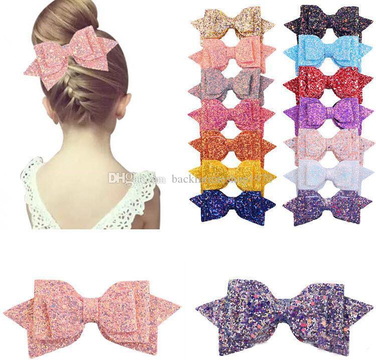 Baby Girls Big Glitter Diadema con lentejuelas brillantes Diademas para niñas Pinzas para el cabello Pasadores para niños Accesorios para el cabello para niños