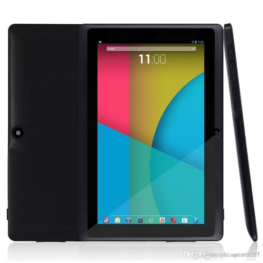 Newest Q88 7 Inch Android 4.4 Tablets PC ALLwinner 8GB ROM 1GB RAM Cheap A33 Quade Core Dual Capacitive tablets