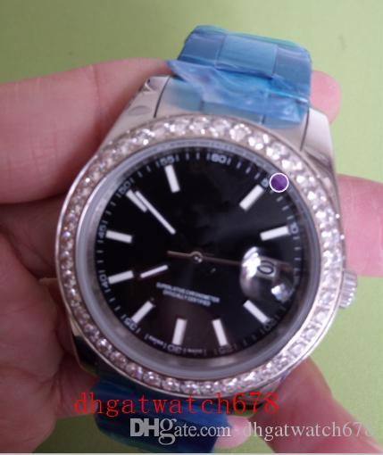 Neueste Stil Luxus mit ursprünglichem Kasten Saphir Zifferblatt schwarz 116244 1624436mm automatische Mens Uhruhrmanmannuhr