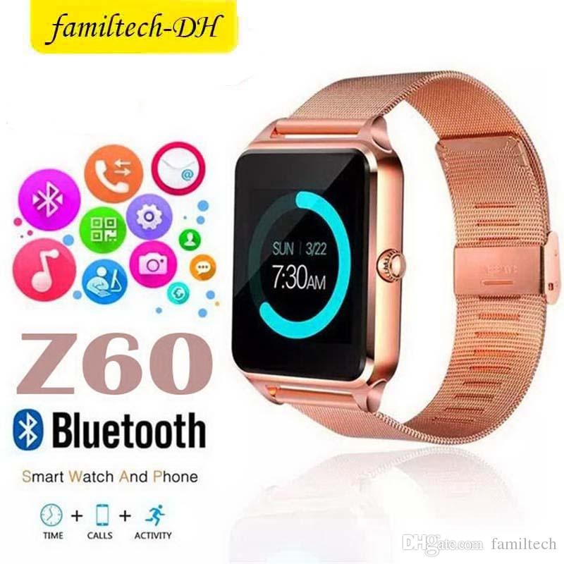 Z60 Bluetooth Smart Watches Support SIM Record Sleep State TF Card Stainless Steel Fitness Tracker Smart Watch For Android And IOS