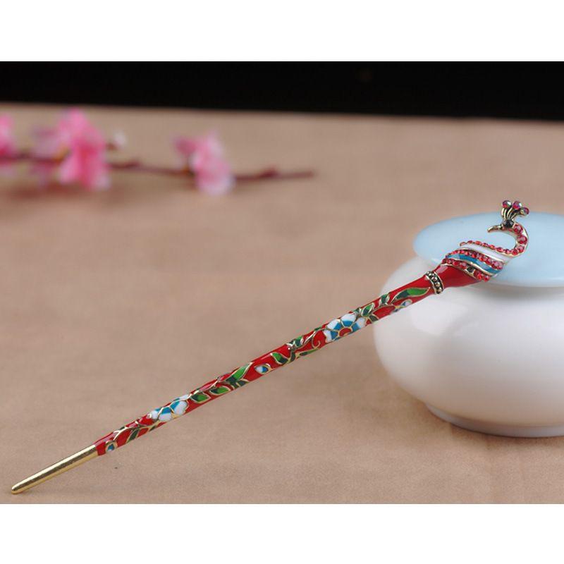Style chinois style rétro coiffure coiffure mode féminine vente chaude populaire plaque de bijoux peints simple et généreux