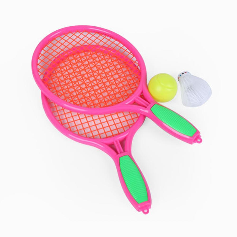 Kids Outdoor Sports Badminton Tennis Racket Ball Set Sport Educational Outdoor Interactive Games Toys for Children Gift