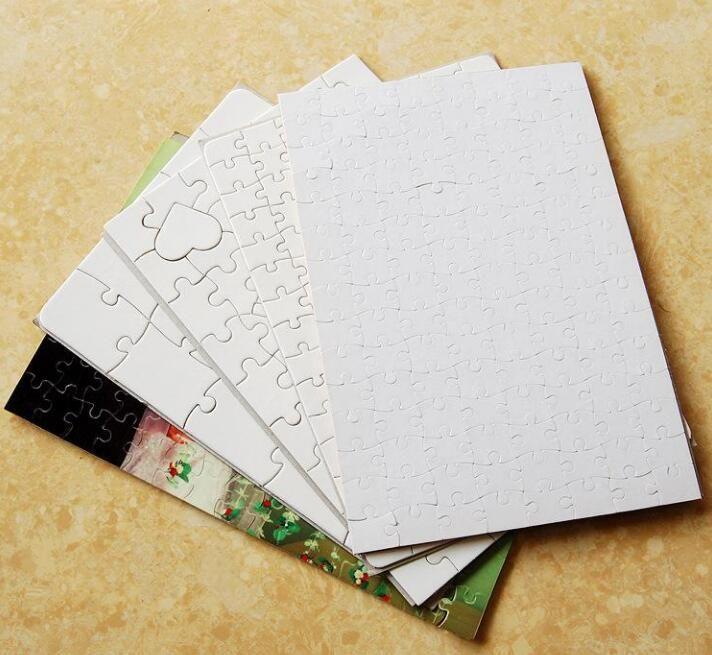 Stock nuevo A4 sublimación en blanco Puzzle 300pcs DIY Artesanía Prensa de transferencia de calor Manualidades Jigsaw Puzzle Libro Blanco Oficina de la escuela DHL Envío Gratis