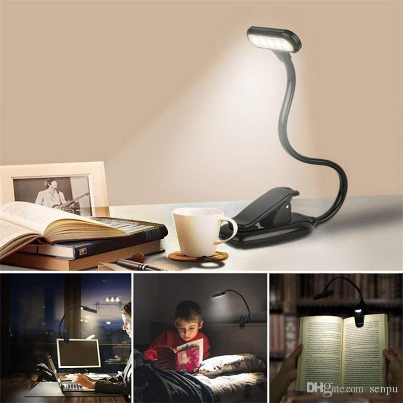 충전식 LED의 USB 도서 빛 독서 빛 유연한 도서 램프 주차 클립 테이블 데스크 램프 휴대용 클립 라이트
