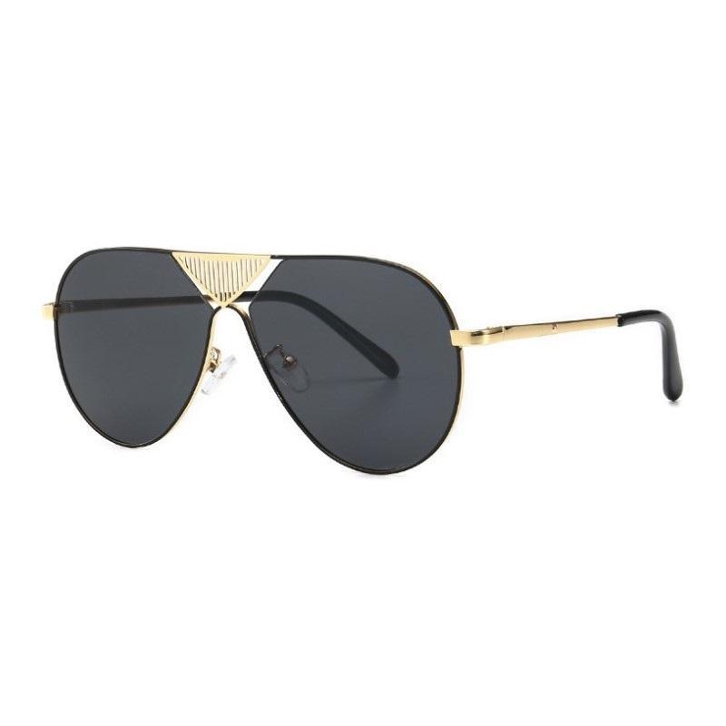 2019 النساء الرجال المتضخم الأسود للجنسين النظارات الطيار إطار معدني نظارات الشمس ل رجل uv400 ظلال gafas دي سول