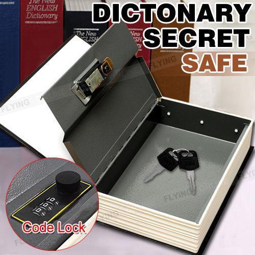 Kitap Kilidi Gizli Gizli Güvenlik Güvenli Kilit Nakit Para Mücevher Soyunma